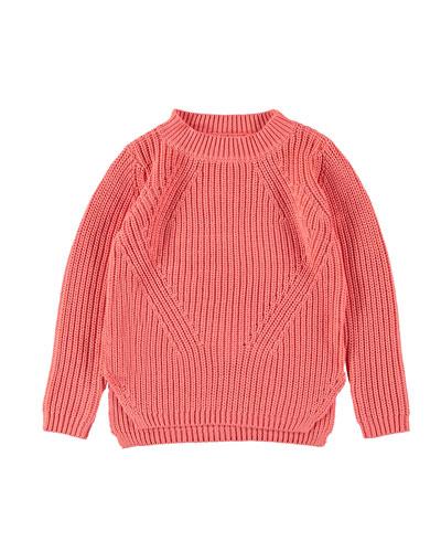 Gillis Mixed Knit Split Hem Sweater  Size 5-16