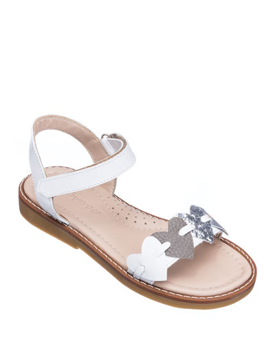 Girls' Leather Heart Sandals  Toddler/Kids