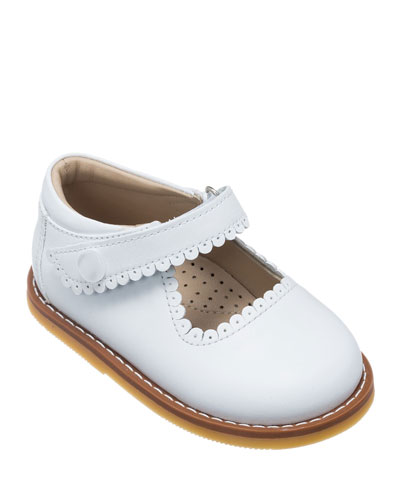 Scalloped Leather Mary Jane, Toddler