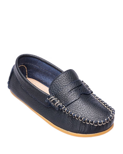 Alex Leather Driver Loafer  Toddler