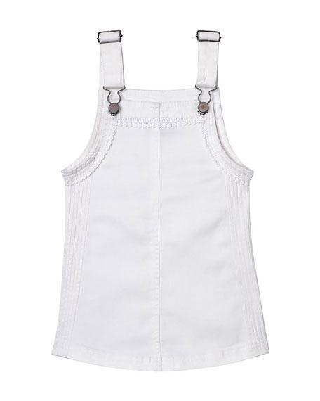 DL1961 Premium Denim Penelope Lace-Trim Pinafore Dress, Size XS-XL