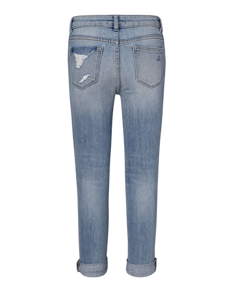 DL1961 Premium Denim Girls' Harper Distressed Boyfriend Jeans, Size 2-6