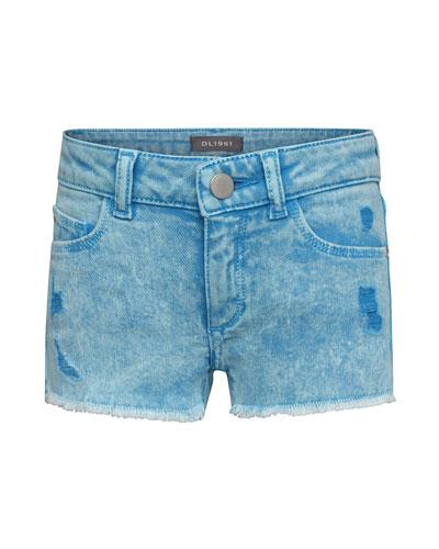 Girls' Lucy Distressed Denim Shorts  Size 2-6