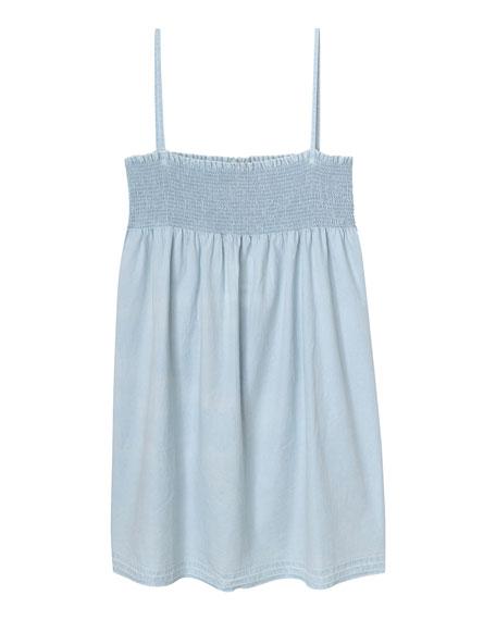 DL1961 Premium Denim Layla Shirred Tank Dress, Size S-L