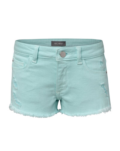 Girls' Lucy Distressed Raw-Hem Shorts  Size 2-6