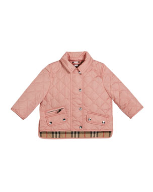 eb928a96a Burberry Brennan Quilted Snap Jacket, Size 6M-2