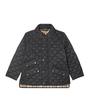 3cea47593d71f7 Burberry Brennan Quilted Snap Jacket, Size 3-14