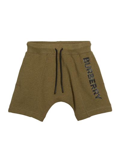 Derick Fleece Embossed Logo Shorts  Size 3-14