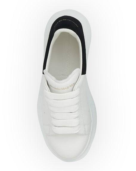 Alexander McQueen Oversized Leather Sneakers, Toddler/Kids
