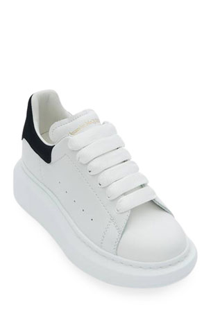 Alexander McQueen Oversized Leather Sneakers, Toddler/Kids