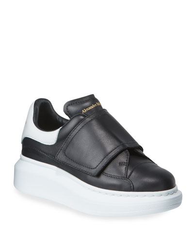Oversized Grip-Strap Leather Sneakers  Toddler/Kids