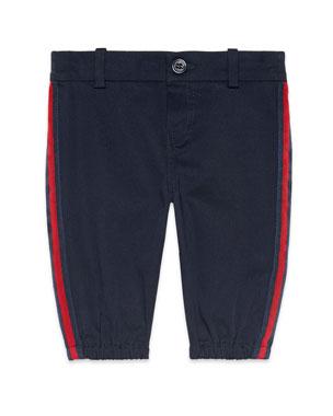 913bc9c7c Gucci Web Trim Pants w/ Logo Patch, Size 6-36 Months