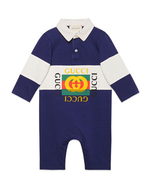 5f3c88ccb Gucci Rugby Polo Coverall w/ Vintage Logo, Size 3-24 Months