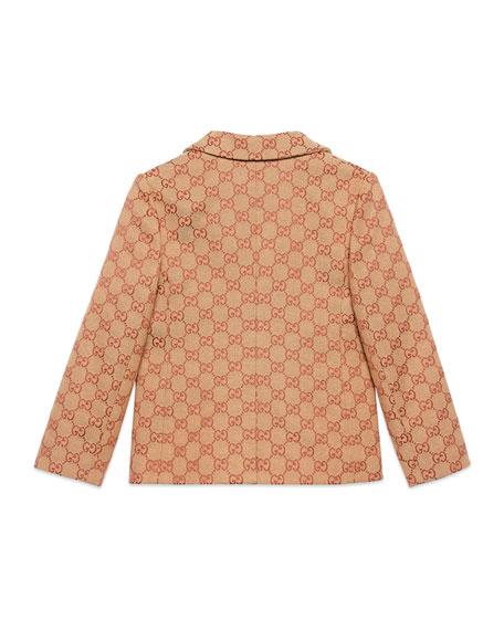Gucci GG Jacquard Canvas Blazer, Size 4-12