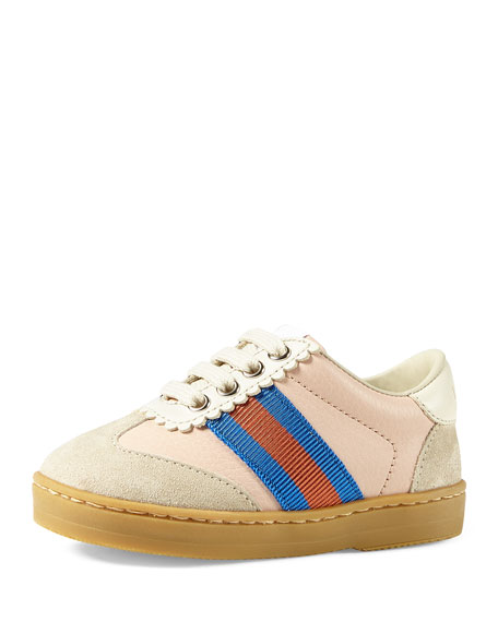 Gucci Leather & Suede Low-Top Sneakers, Baby/Toddler