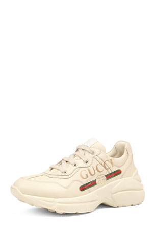 Gucci Gucci Logo Leather Sneakers, Toddler/Kids
