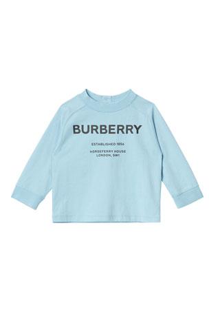 Burberry Griffon Long-Sleeve Logo Tee, Size 6M-2