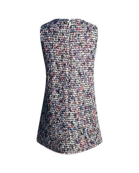 Helena Diamond Tweed Sleeveless Dress, Size 7-14