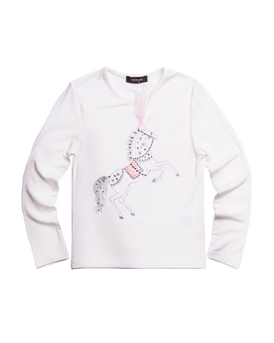 Girl's Horse Graphic Tee, Size 7-14
