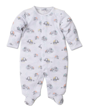 4caaed617c2d Kissy Kissy Elephant Hugs Printed Pima Footie Playsuit, Size Newborn-6  Months