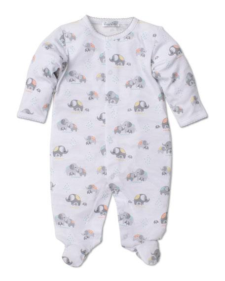 Kissy Kissy Elephant Hugs Printed Pima Footie Playsuit, Size Newborn-6 Months