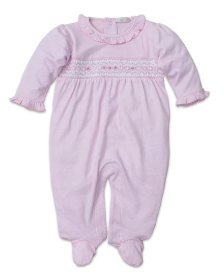 Kissy Kissy CLB Fall Smocked Ruffle-Trim Footie Playsuit, Size Newborn-9 Months