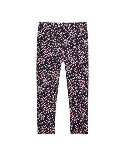 Allover Heart Print Leggings  Size 4-6