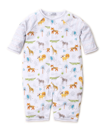 Jungle Junket Printed Raglan Coverall  Size 3-18 Months