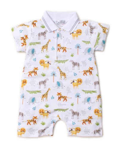 Jungle Junket Collared Shortall  Size 3-24 Months