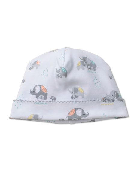 Kissy Kissy Elephant Hugs Printed Baby Hat