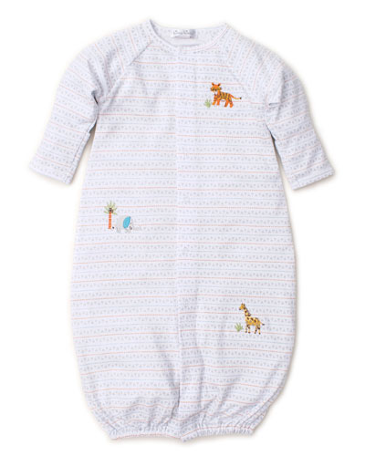 Jungle Junket Striped Convertible Sleep Gown  Size Newborn-Small