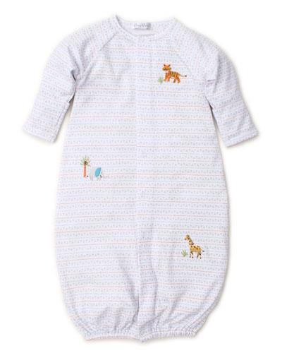 Jungle Junket Striped Convertible Sleep Gown, Size Newborn-Small