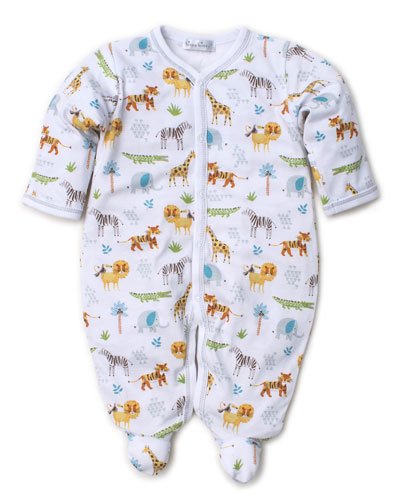 Jungle Junket Printed Pima Footie Playsuit  Size Newborn-9 Months