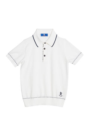 Stefano Ricci Kids' Cotton Polo Sweater, Size 6-10