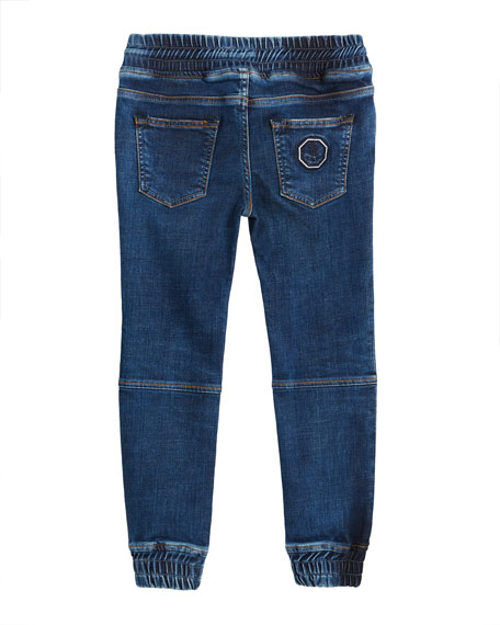 Stefano Ricci Kids' Denim Sport Trousers, Size 6-14