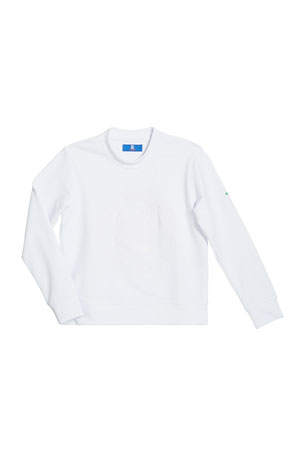 Stefano Ricci Boys' Logo Embroidered Stretch Sweater, Size 4-16