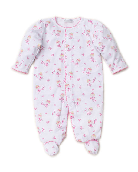 Kissy Kissy Twirly Toes Printed Pima Footie Playsuit, Size Newborn-9 Months