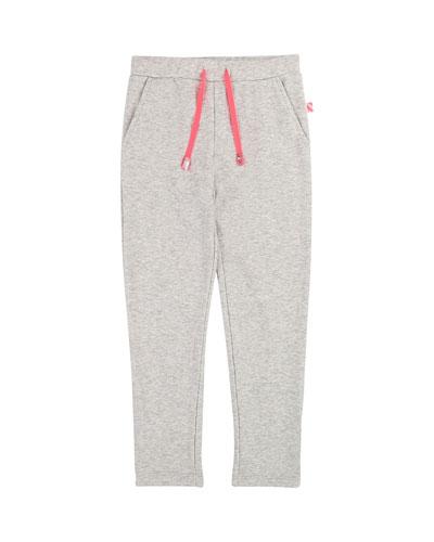 Drawstring Sweatpants w/ Ruffle & Sequin Pocket, Size 4-12