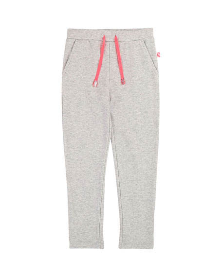 Billieblush Drawstring Sweatpants w/ Ruffle & Sequin Pocket, Size 4-12