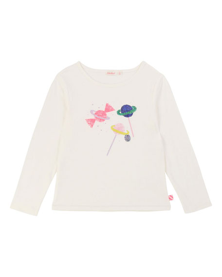 Billieblush Sequin Scattered Candy Tee, Size 4-12