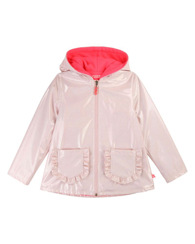 Girls' Transparent Raincoat  Size 4-12