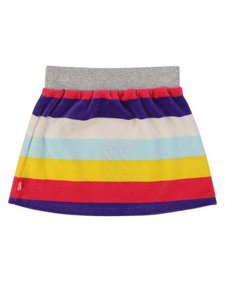 Billieblush Striped Velour Skirt, Size 4-12