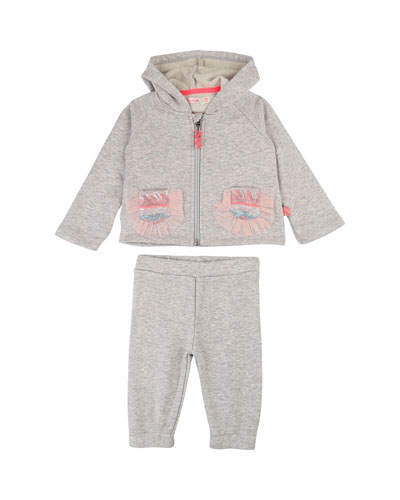 Hooded Zip-Up Jacket w/ Matching Pants, Size 12M-3