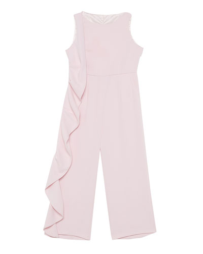 Marissa Asymmetric Ruffle Jumpsuit  Size 8-16