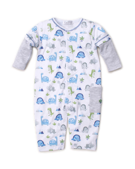 Kissy Kissy Dino Crew Printed Pima Coverall, Size 3-24 Months