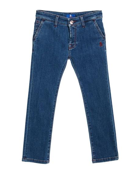 Stefano Ricci Straight Leg Denim Jeans, Size 4-12
