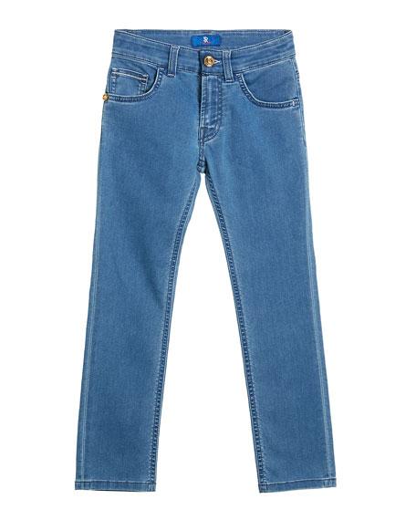 Stefano Ricci Boy's Straight Leg Denim Jeans, Size 6-14
