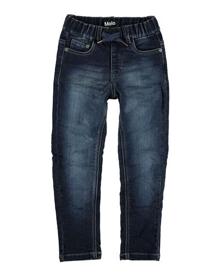 Molo Augustin Drawstring Denim Jeans, Size 4-10