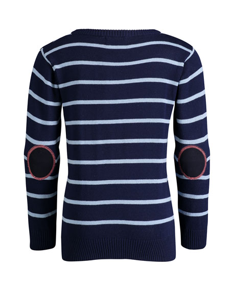 Andy & Evan Striped Cotton Sweater, Size 2-6X