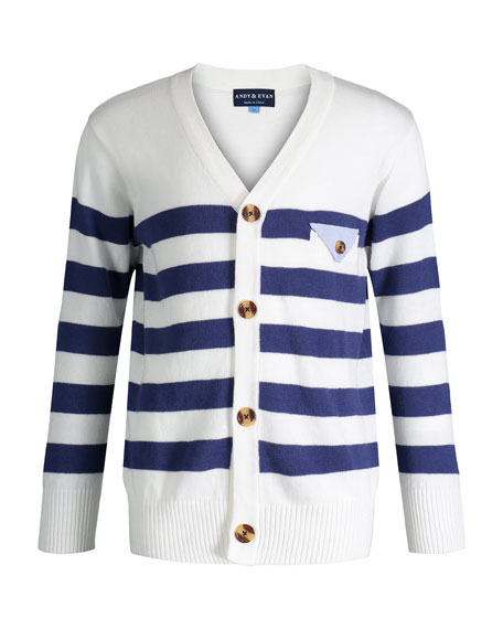 Andy & Evan Varsity Striped Sweater, Size 8-14